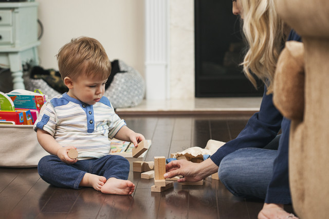 stock photo: boy and mother playing