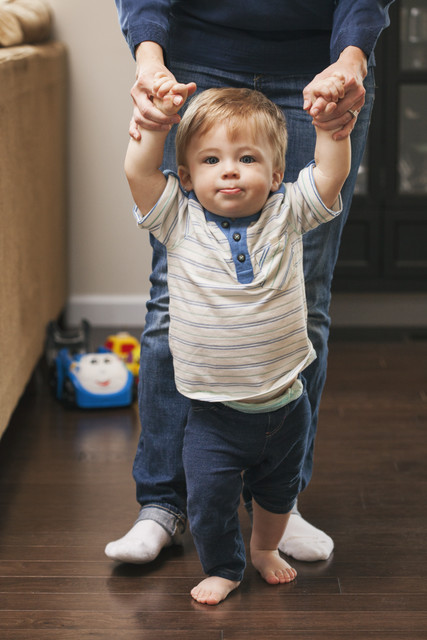 stock photo: boy learning to walk