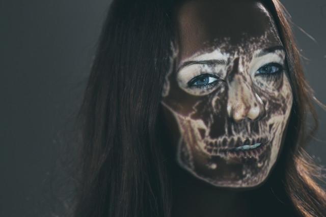 stock photo: woman skeleton